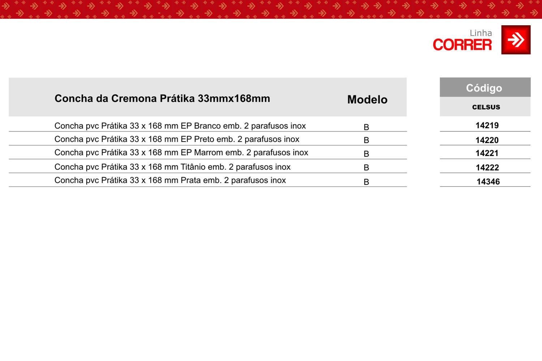 Tabela de Códigos Concha Prátika